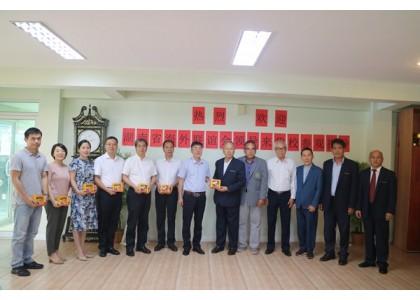 湖南省海外联谊会代表团来我校参观访问